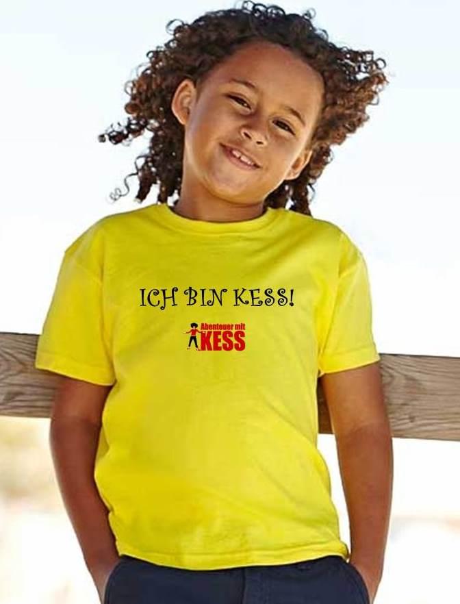 2. shirt gelb - ich bin kess