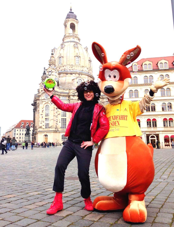 Abenteuer mit KESS Seifenblasen Sydney Känguru Stadtrundfahrt Dresden