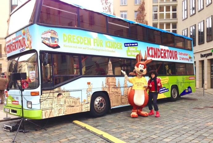 Abenteuer mit KESS Stadtrundfahrt Dresden Kindertour Sydney