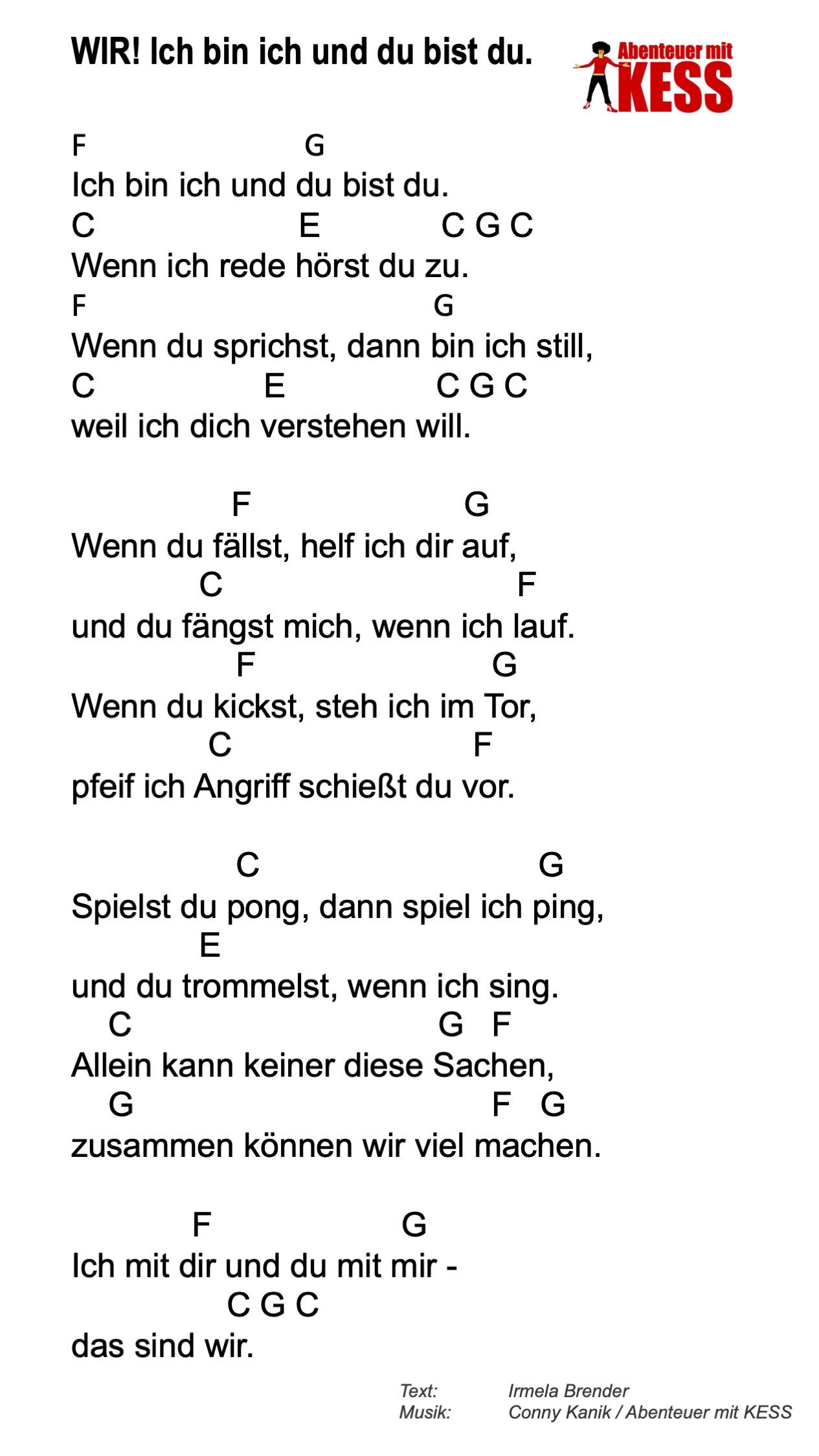 Lied Du Bist Du Text